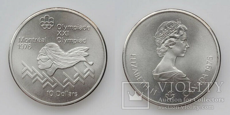 10 долларов 1976 Канада серебро 2