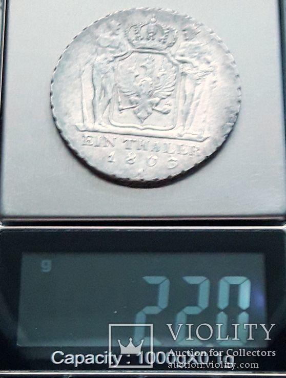 Талер Пруссия 1803 г. А, фото №11