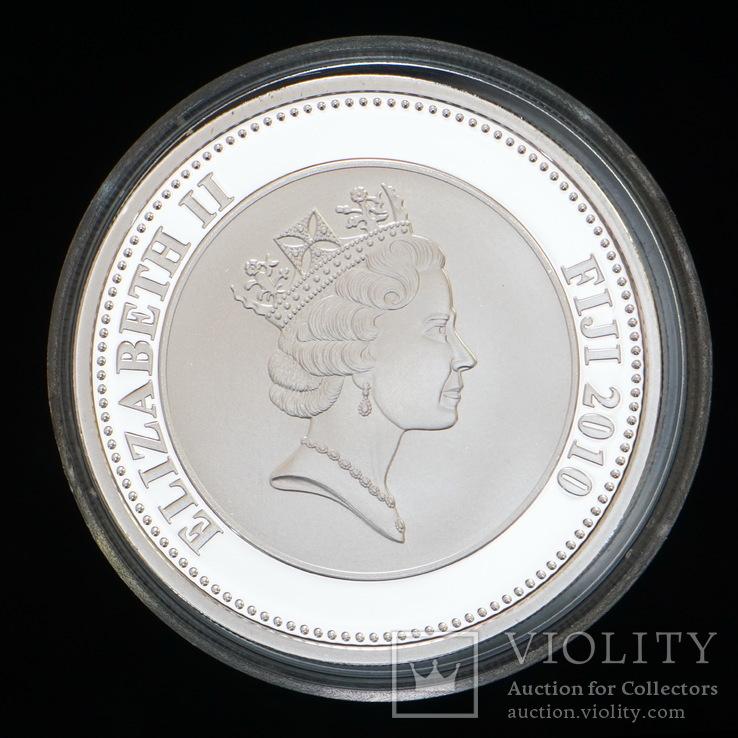 1 Доллара 2010 Чарльз Второй - Реставкация Монархии в Британии, Фиджи, фото №3