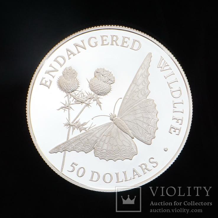 50 Долларов 1992 Бабочка, Острова Кука, фото №2
