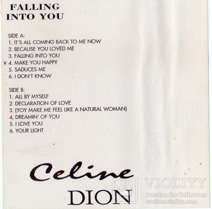 Celine Dion (Falling Into You) 1996. (MC). Кассета. Audio Max. Poland., фото №7