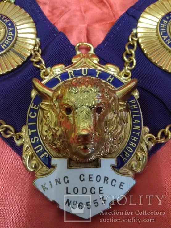 Ошейник Старинного Королевского Ордена Буйволов ложа №6553, фото №2