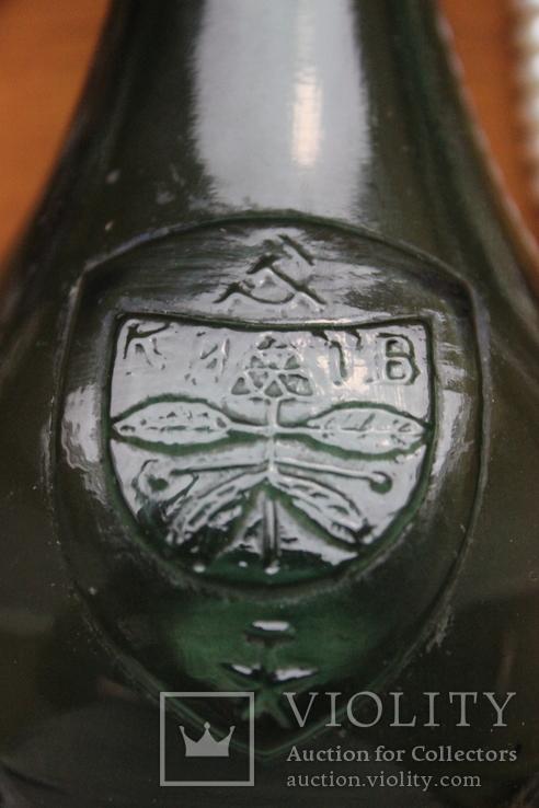 "Бутылек,зеленое стекло.""Киев"", фото №3"