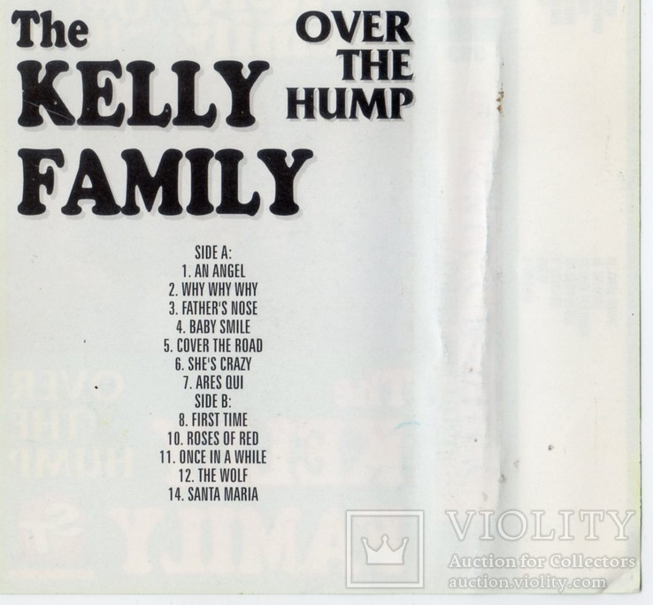 The Kelly Family (Over The Hump) 1994. (MC). Кассета. ST Records Poland., фото №7