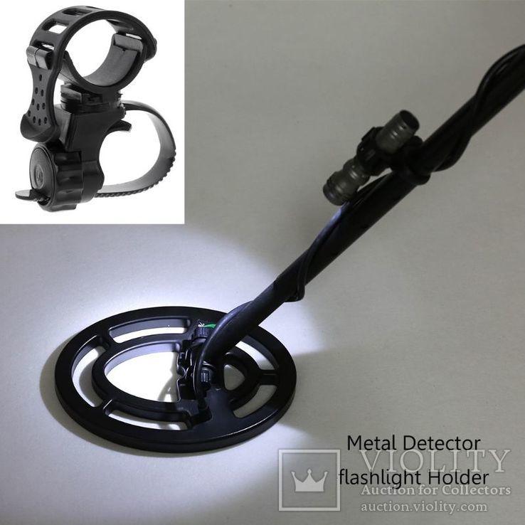 Держатель фонарика ,пинпоинтера на штанге металлоискателя, фото №2