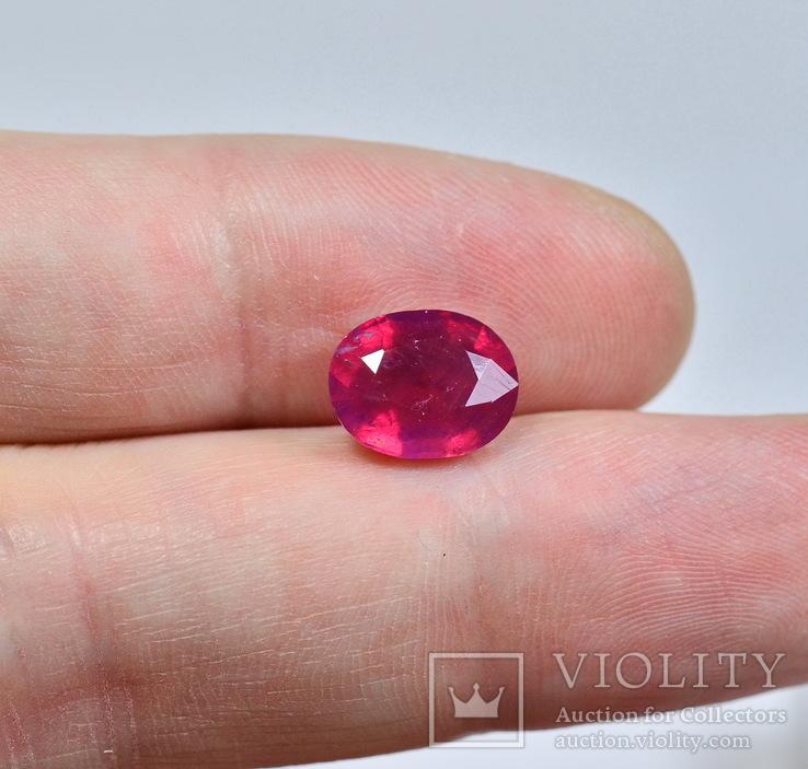 Природный рубин ( голубиная кровь ) 4.3 карата, фото №4