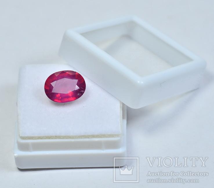 Природный рубин ( голубиная кровь ) 4.3 карата, фото №6