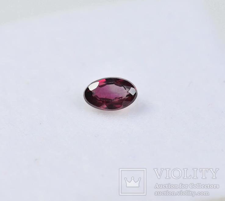 Сапфир природный ( красивый цвет )  0.29CT - 4.7Х3мм.+-, фото №2
