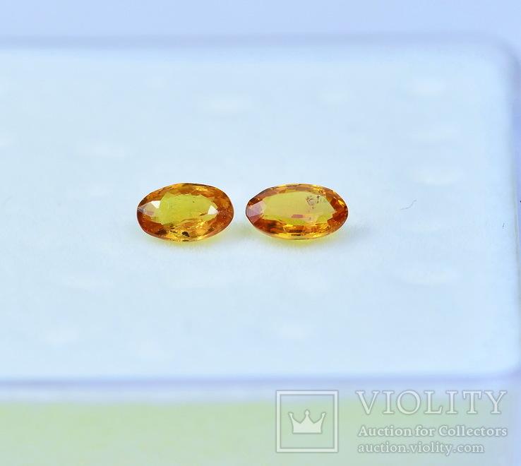 Сапфиры природные 0.60CT - 4.9Х3.1мм.; 5.1Х3.15мм, фото №4