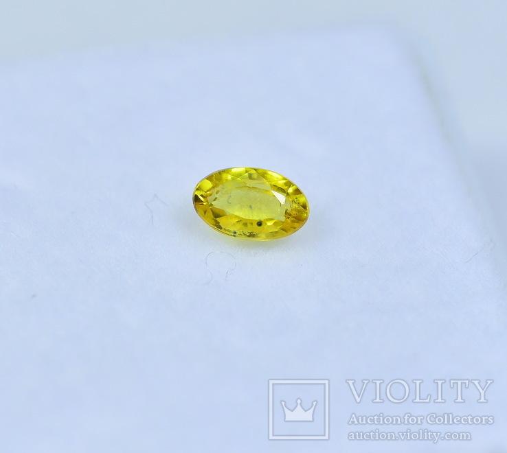 Сапфир природный 0.37CT - 5Х3.1мм., фото №3