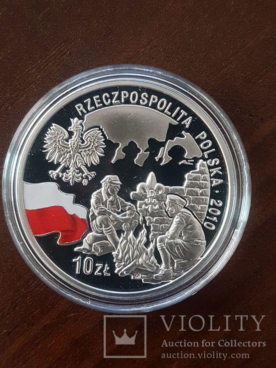 10 злотых 2010-100 лет Союзу польских харцеров,, фото №2
