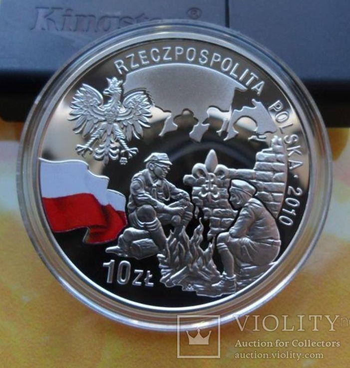 10 злотых 2010-100 лет Союзу польских харцеров,, фото №9