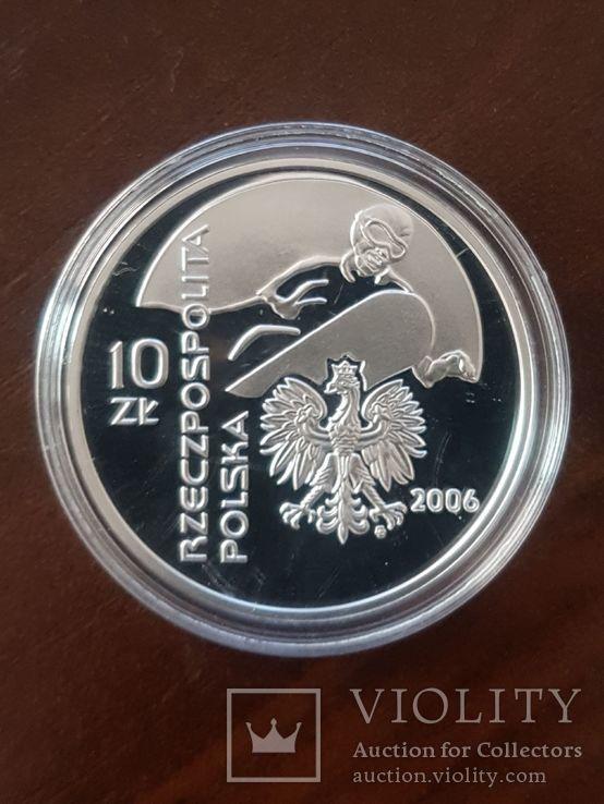 Польша 10 злотых 2006-XX зимние Олимпийские игры, Турин 2006, фото №5
