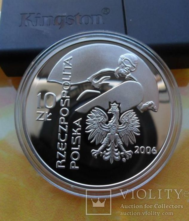 Польша 10 злотых 2006-XX зимние Олимпийские игры, Турин 2006, фото №8