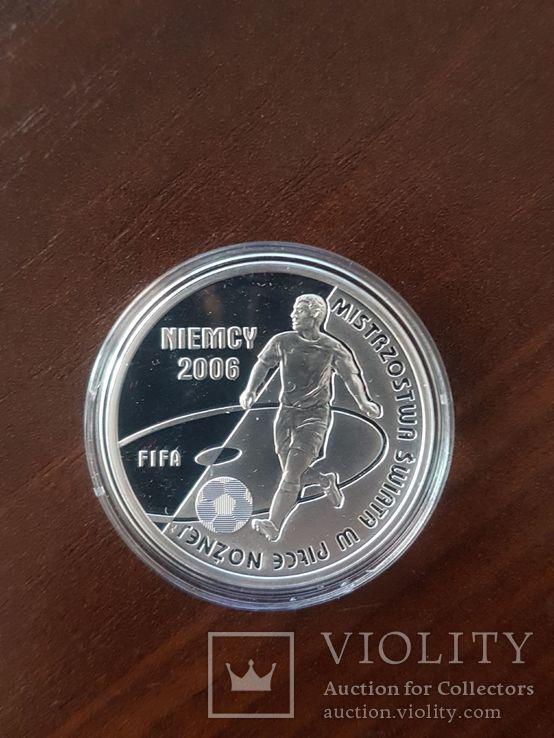Польша 10 злотых 2006г Спорт Футбол ЧМ в Германии 2006, фото №3