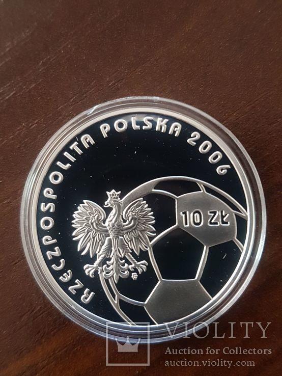 Польша 10 злотых 2006г Спорт Футбол ЧМ в Германии 2006, фото №2
