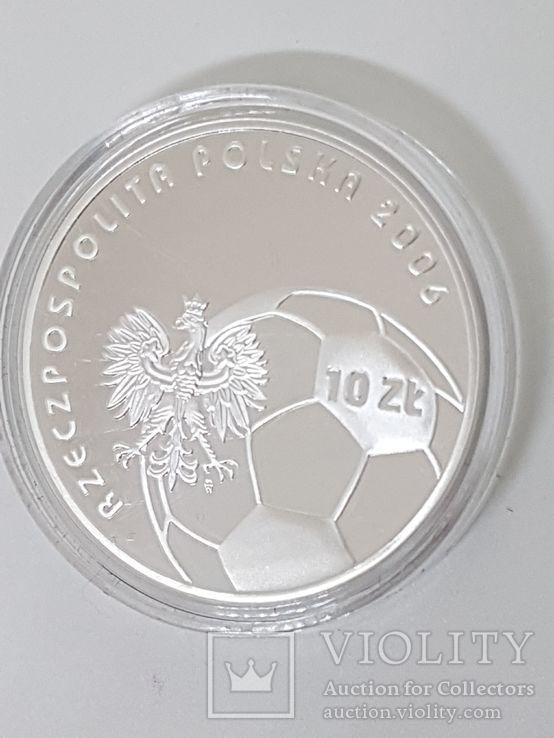 Польша 10 злотых 2006г Спорт Футбол ЧМ в Германии 2006, фото №9