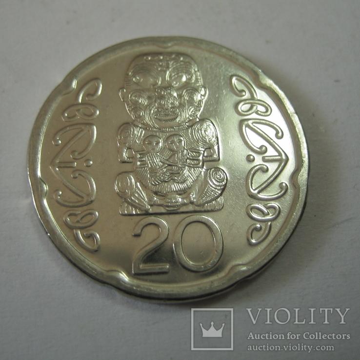 Новая Зеландия 20 пенсов 2008 года., фото №4
