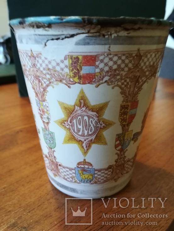 Коронационный юбилейный стакан 1848-1908 год Австрия,Кайзер (оригинал), фото №4