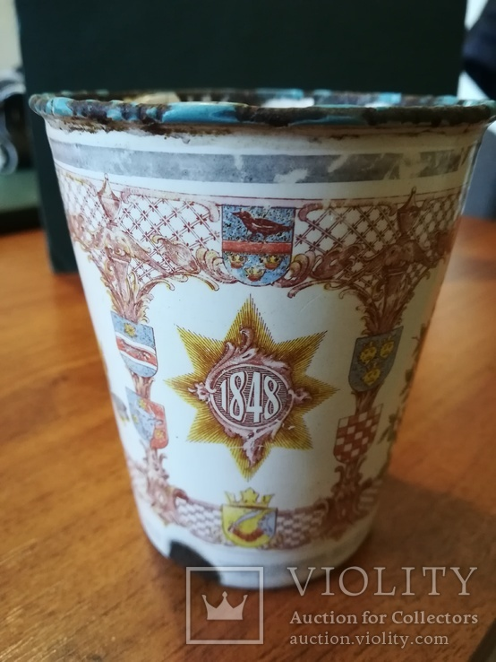 Коронационный юбилейный стакан 1848-1908 год Австрия,Кайзер (оригинал), фото №5