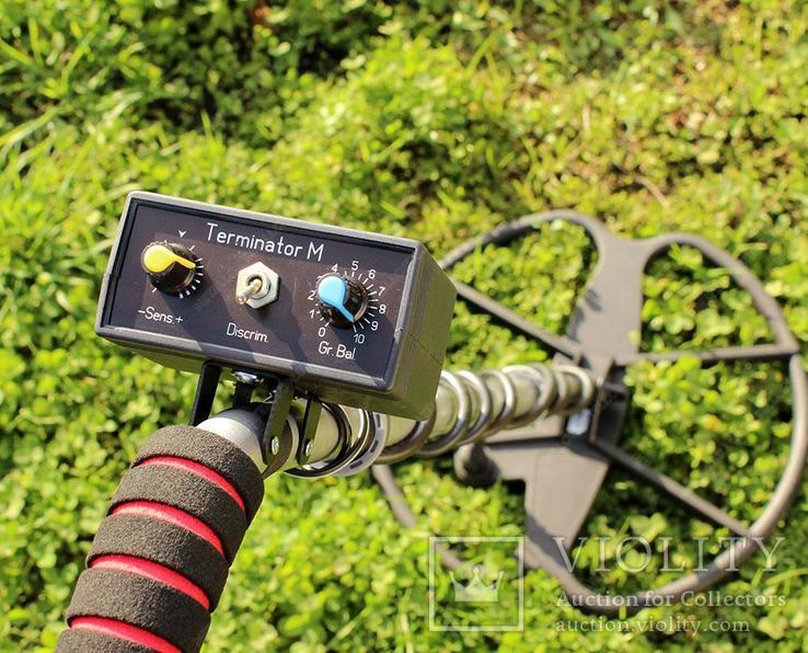 Металлоискатель Терминатор М 2-х частотный с катушкой 33 см., фото №3