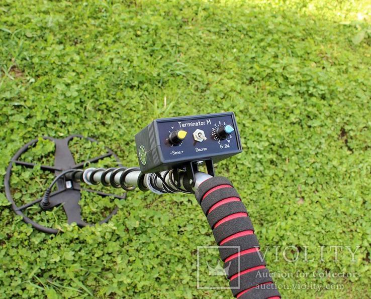 Металлоискатель Терминатор М 2-х частотный с катушкой 33 см., фото №6
