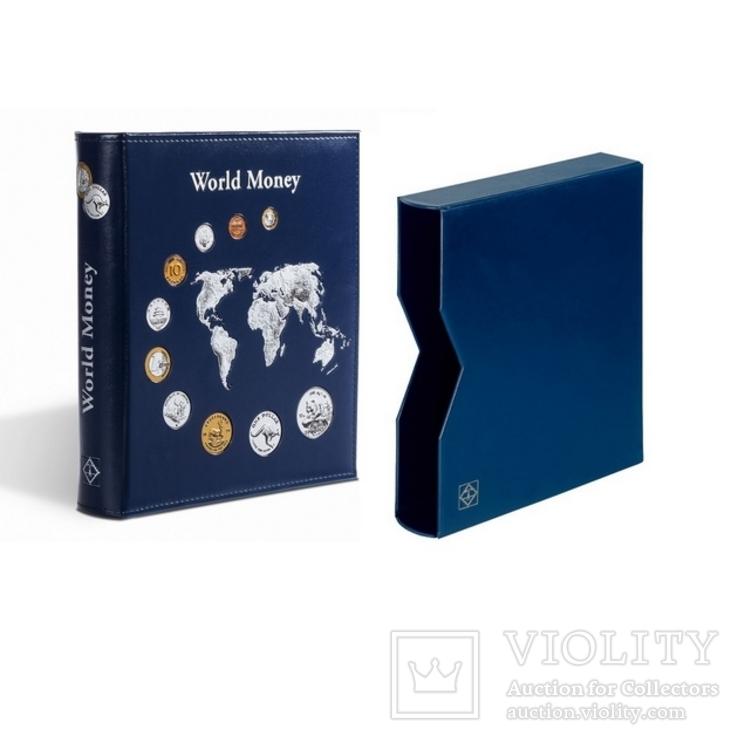Альбом Leuchtturm, Optima World Money с 5 листами на 152 монеты с футляром, фото №2