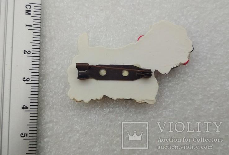 Брошь шотландский терьер пластмасса, фото №4