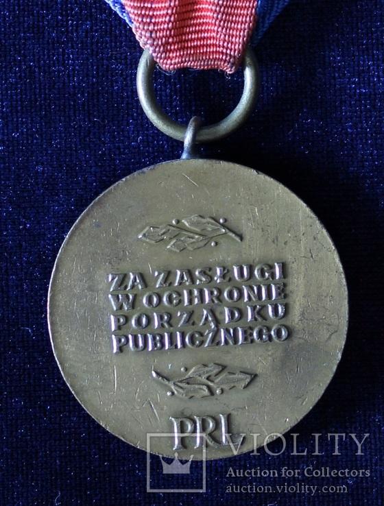 """Польша. Медаль """"За заслуги в охране общественного порядка"""". Бронзовая степень., фото №4"""