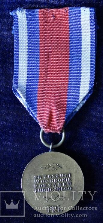 """Польша. Медаль """"За заслуги в охране общественного порядка"""". Бронзовая степень., фото №5"""