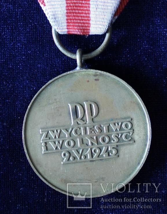 Польша. Медаль Победы и Свободы., фото №4