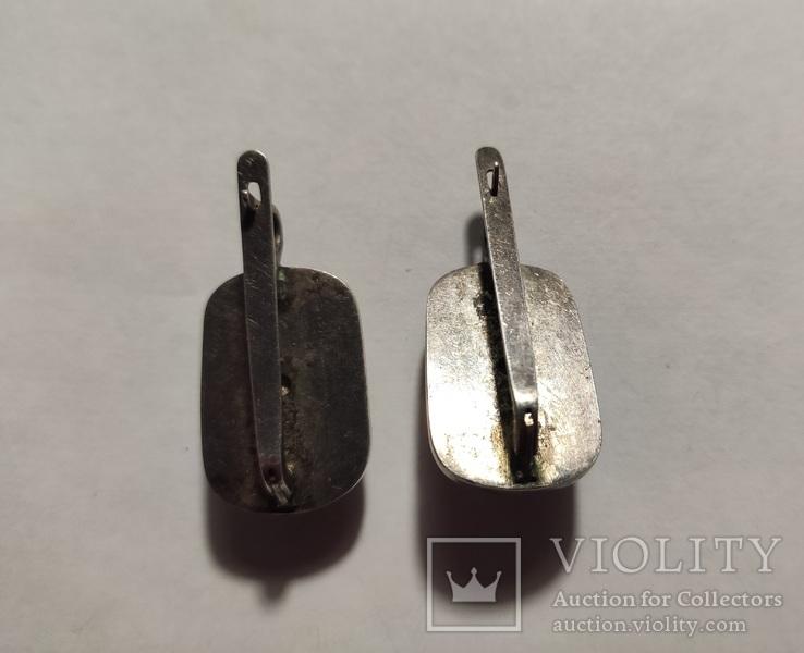 Сережки и кольцо коралл, фото №6