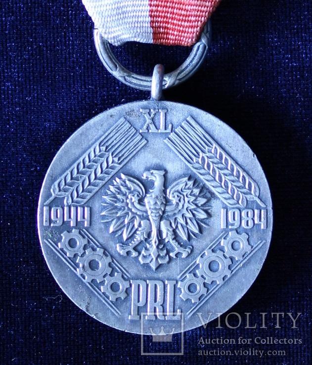 """Польша. Юбилейная медаль """"40 лет Народной Польши""""., фото №2"""