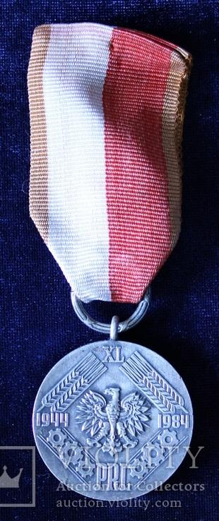 """Польша. Юбилейная медаль """"40 лет Народной Польши""""., фото №3"""