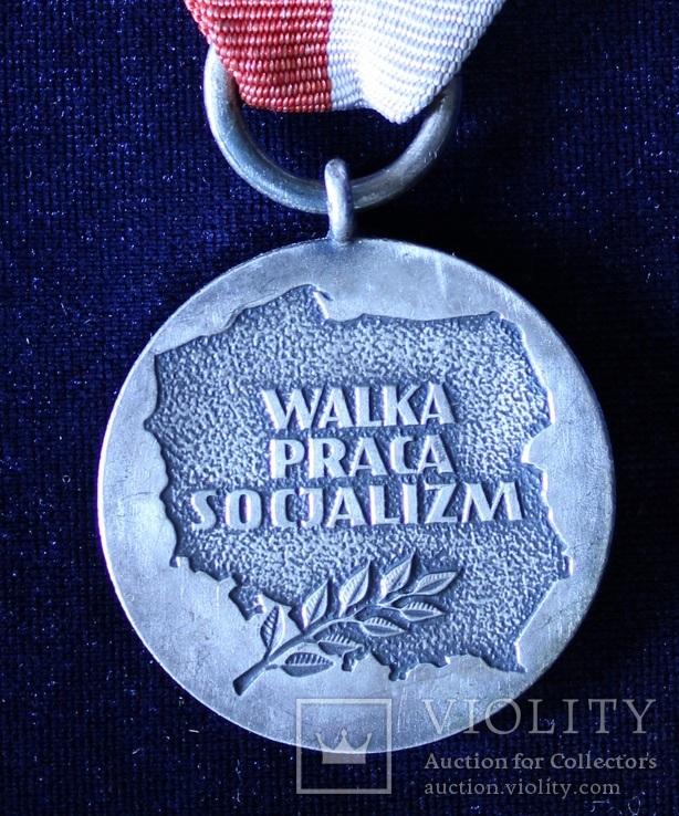 """Польша. Юбилейная медаль """"40 лет Народной Польши""""., фото №4"""