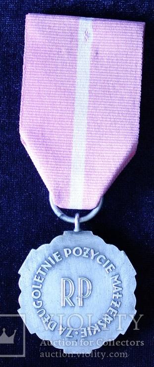 """Польша. Медаль """"За долголетнюю супружескую жизнь""""., фото №5"""