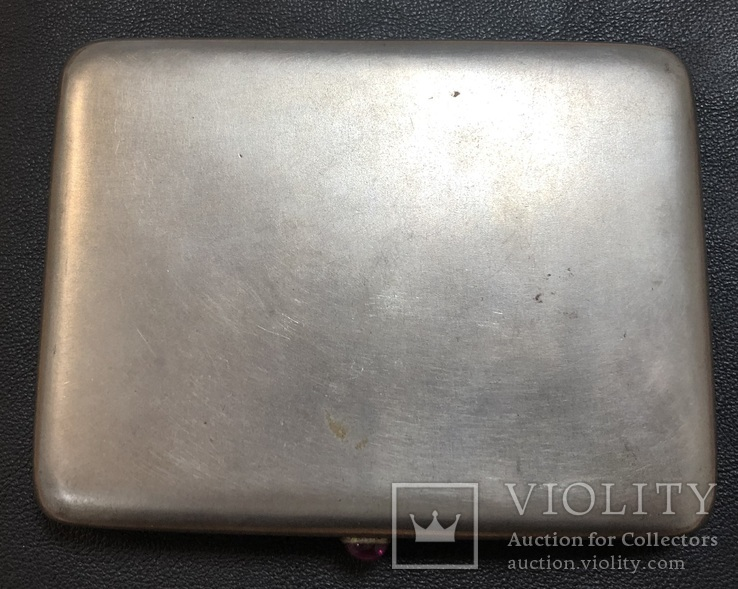 Серебряный портсигар 875 пробы, фото №2