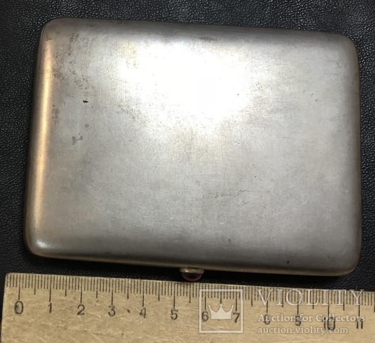 Серебряный портсигар 875 пробы, фото №13