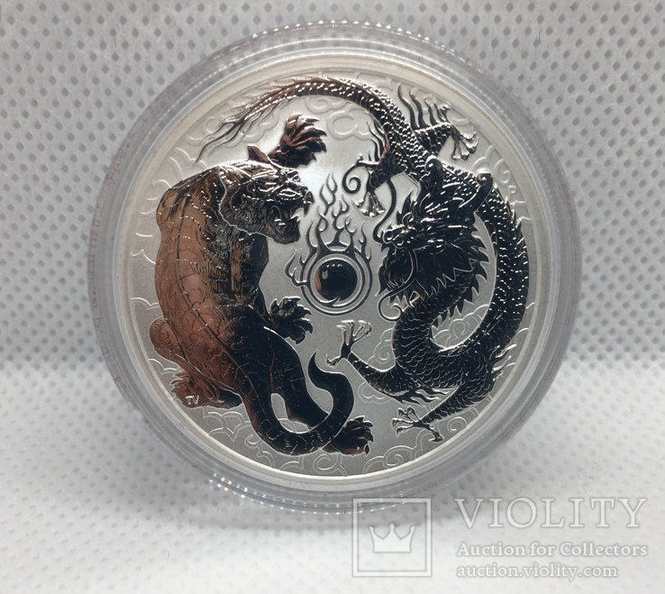 "Дракон и Тигр Dragon and Tiger Australia Серебро ""друзья дракона"", фото №3"