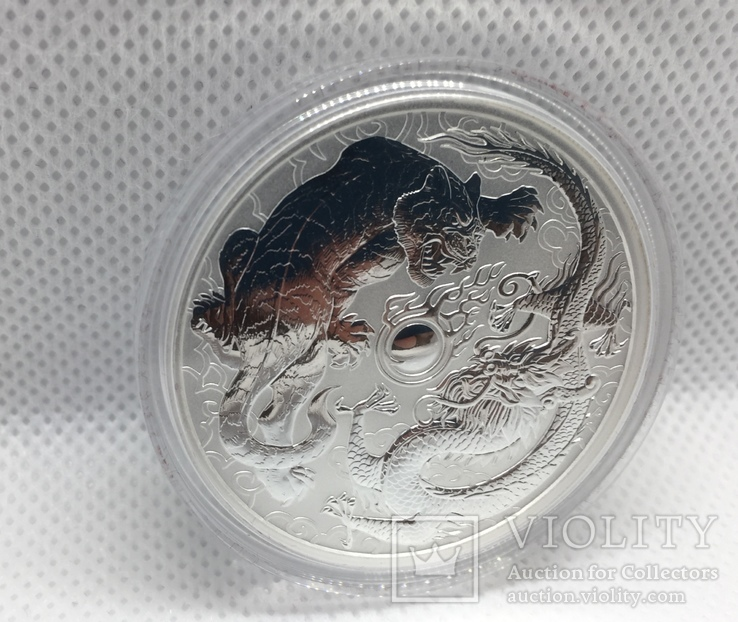 "Дракон и Тигр Dragon and Tiger Australia Серебро ""друзья дракона"", фото №4"