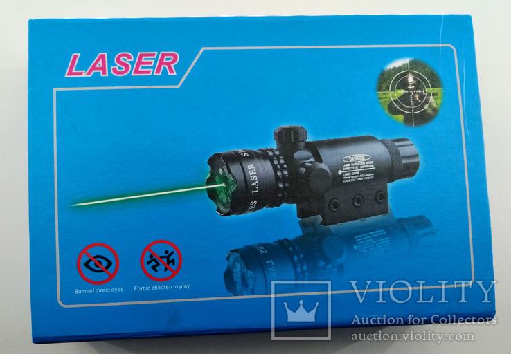 Лазерный целеуказатель LASER. Новый. + зарядка для аккумулятора., фото №2