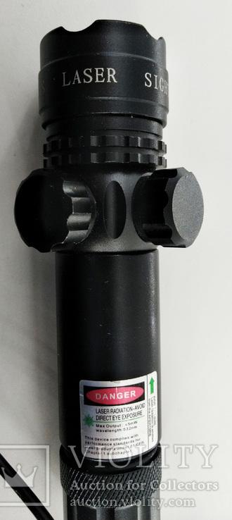 Лазерный целеуказатель LASER. Новый. + зарядка для аккумулятора., фото №8
