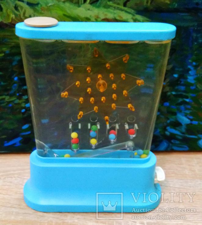 Водяная игра дельфин, собери шарики по цветам. СССР., фото №2