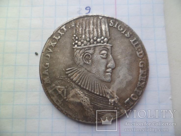 1 талер 1587рік Сигизмунд ІІІ Польша (Средневеко́вье) копия, фото №2