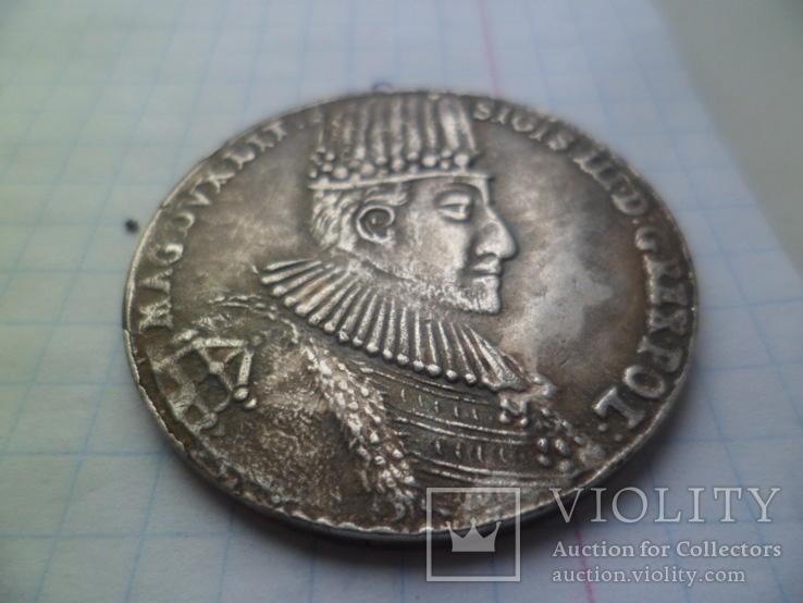 1 талер 1587рік Сигизмунд ІІІ Польша (Средневеко́вье) копия, фото №3