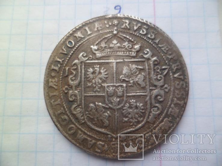 1 талер 1587рік Сигизмунд ІІІ Польша (Средневеко́вье) копия, фото №4
