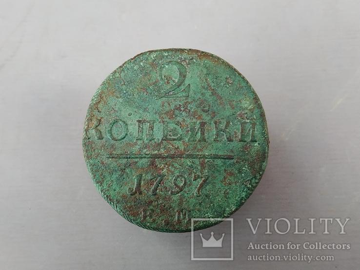 2 коп. 1797 г. ЕМ, фото №2