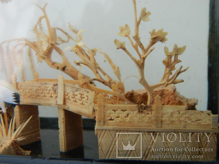 Пано - діорама китайська мініатюра, ручна робота ( коркове дерево ), фото №4