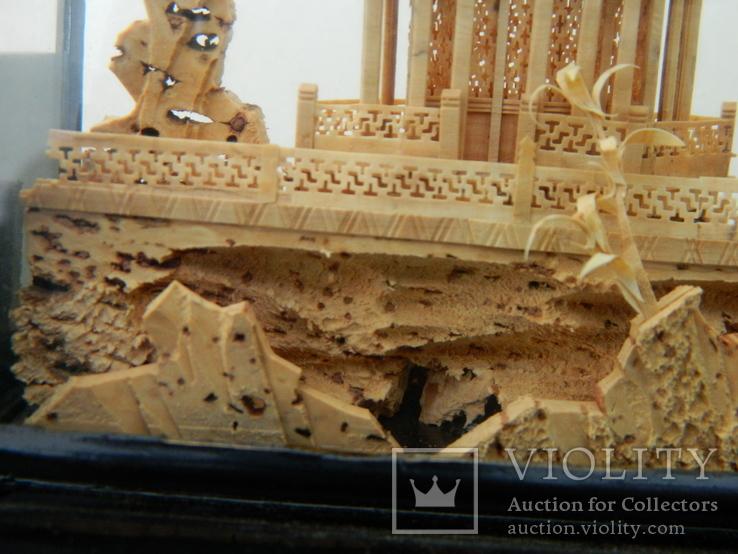 Пано - діорама китайська мініатюра, ручна робота ( коркове дерево ), фото №5