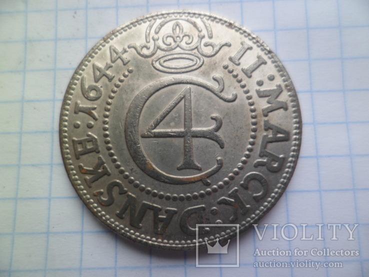 Монета середньовіча 1644 рік копія, фото №2